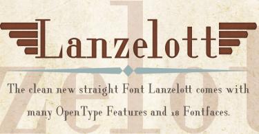 Lanzelott [18 Fonts] | The Fonts Master