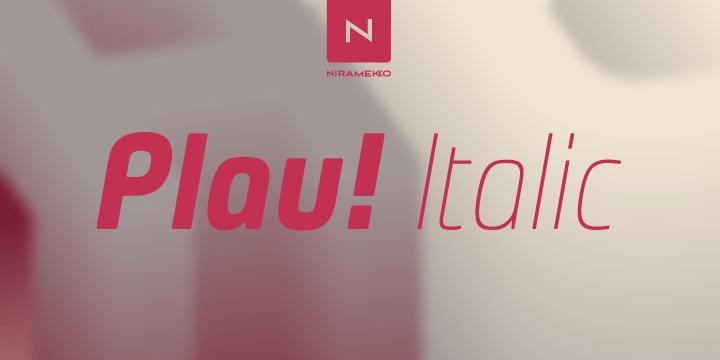 Plau Italics [6 Fonts]   The Fonts Master
