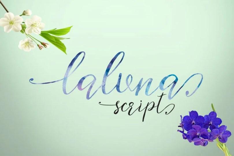 Laluna Script [1 Font]   The Fonts Master