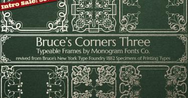 Mfc Bruce'S Corners Three [1 Font] | The Fonts Master