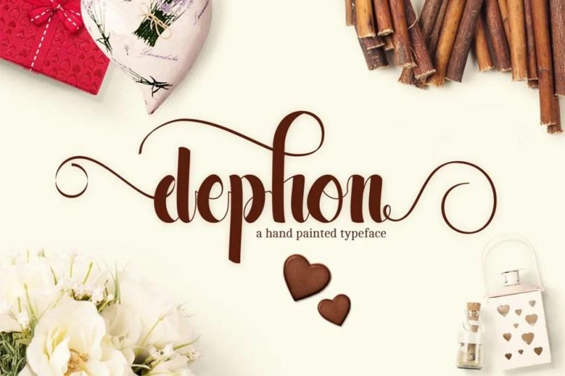 Dephon Script [1 Font]   The Fonts Master