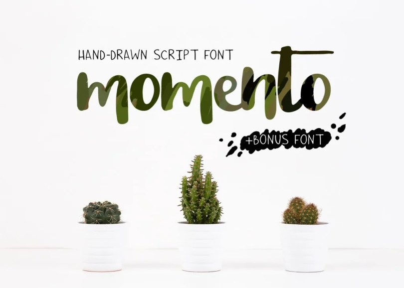 Momento + Chappy [2 Fonts]   The Fonts Master