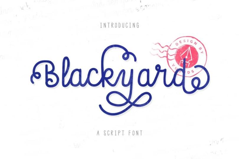 Blackyard Script &Amp; Sans [2 Fonts] | The Fonts Master
