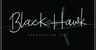 Black Hawk [3 Fonts + Extras] | The Fonts Master