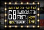 Font Texture Bundle [68 Fonts + Extras] | The Fonts Master