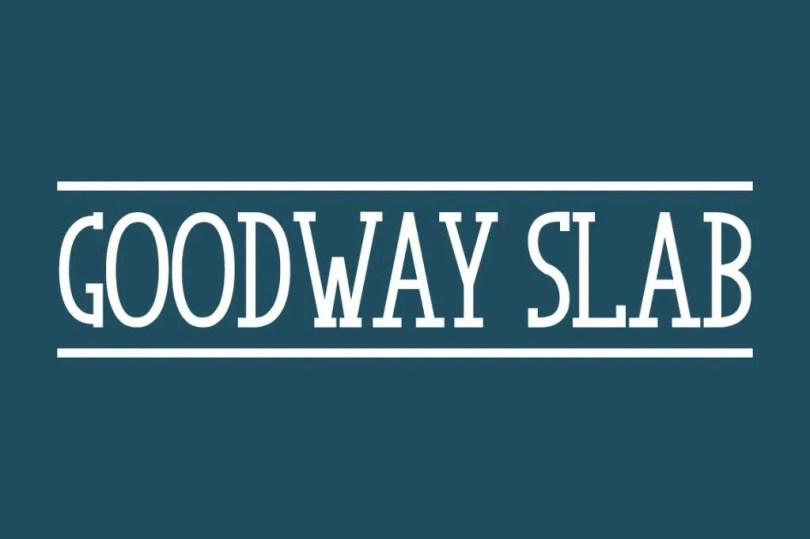 Goodway Slab [1 Font]   The Fonts Master