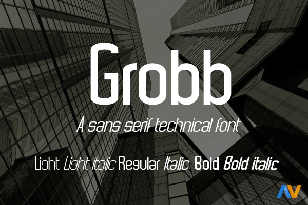Grobb [5 Fonts]   The Fonts Master