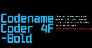 Codename Coder 4F [1 Font] | The Fonts Master