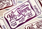 No. Seven [5 Fonts] | The Fonts Master