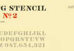 Vtg Stencil Us No. 2 [2 Fonts] | The Fonts Master