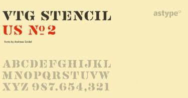 Vtg Stencil Us No. 2 [2 Fonts] | The Fonts Master