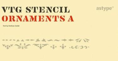 Vtg Stencil Ornaments A [1 Font] | The Fonts Master