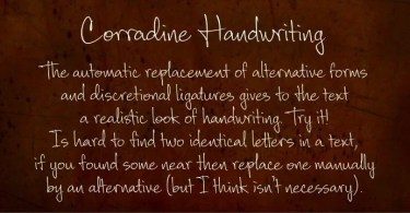 Corradine Handwriting [2 Fonts] | The Fonts Master