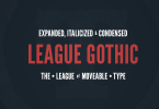 League Gothic [4 Fonts] | The Fonts Master
