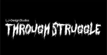 Through Struggle [1 Font]   The Fonts Master