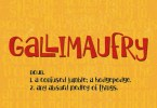 Gallimaufry [1 Font]   The Fonts Master