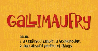 Gallimaufry [1 Font] | The Fonts Master