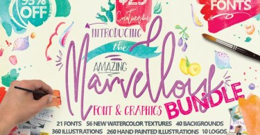 Marvellous Font Bundle [30 Fonts]   The Fonts Master