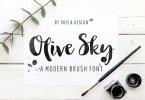 Olive Sky [1 Font] | The Fonts Master
