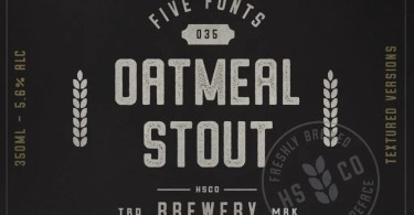 Oatmeal Stout [6 Fonts]   The Fonts Master