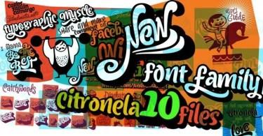 Citronela [10 Fonts]   The Fonts Master