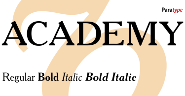 Academy [3 Fonts] | The Fonts Master