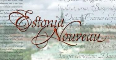 Estonia Nouveau Pro [1 Font] | The Fonts Master