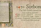 1470 Sorbonne [1 Font] | The Fonts Master
