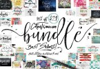 Creativeqube Bundle Of Fonts And Graphics [46 Fonts + Extras] | The Fonts Master