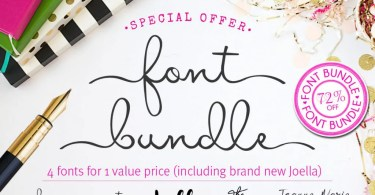 Font Bundle 4 In 1 [7 Fonts]   The Fonts Master