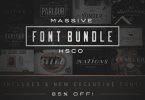 Massive Font Bundle [12 Fonts + Extra] | The Fonts Master