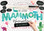 Mammoth Watercolour For Illustrator [18 Fonts + Extras] | The Fonts Master