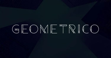 Geometrico [1 Font] | The Fonts Master