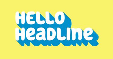 Hello Headline [1 Font] | The Fonts Master