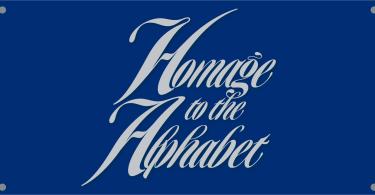 Homage Script [1 Font] | The Fonts Master
