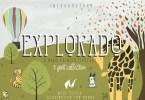 Explorado + Bonus [3 Fonts + Extras] | The Fonts Master