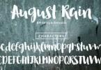 August Rain [1 Font] | The Fonts Master