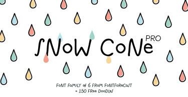 Snow Cone Pro [7 Fonts] | The Fonts Master