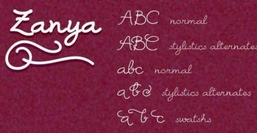 Zanya [5 Fonts] | The Fonts Master