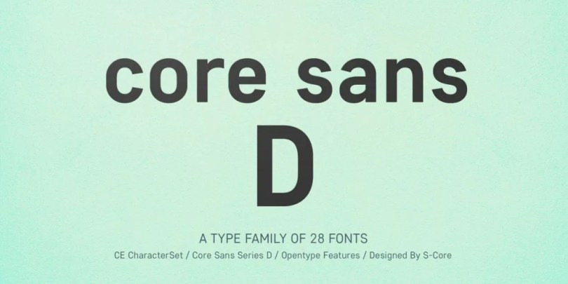 Core Sans D Super Family [28 Fonts] | The Fonts Master