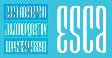 Esca [1 Font] | The Fonts Master