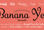 Banana Yeti [5 Fonts] | The Fonts Master