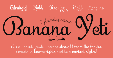 Banana Yeti [5 Fonts] | The Fonts Master