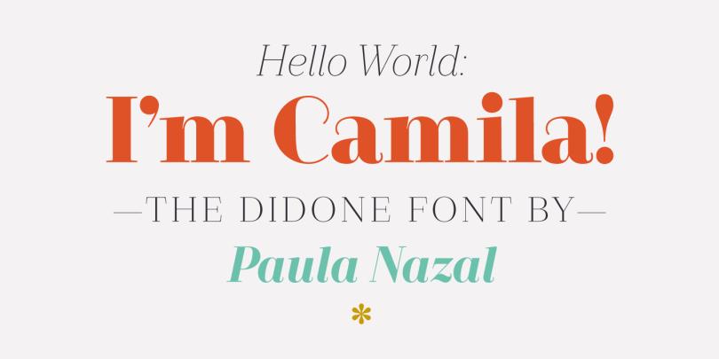 Camila [14 Fonts] | The Fonts Master