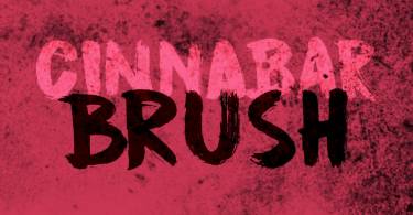 Cinnabar Brush [1 Font] | The Fonts Master