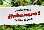 Habanero [1 Font] | The Fonts Master