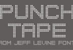 Punch Tape Jnl [1 Font] | The Fonts Master