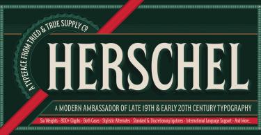 Herschel [6 Fonts] | The Fonts Master