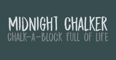 Midnight Chalker [2 Fonts]   The Fonts Master