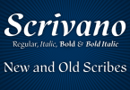 Scrivano [4 Fonts] | The Fonts Master